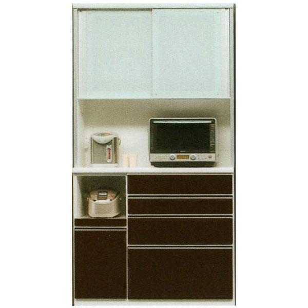 レンジボード 120cm幅 高さH1700mm~H2300mm対応 レンジ台 食器棚 キッチン収納 家電収納カウンター高さ1010mmカラー30色対応 国産 開梱設置・送料無料