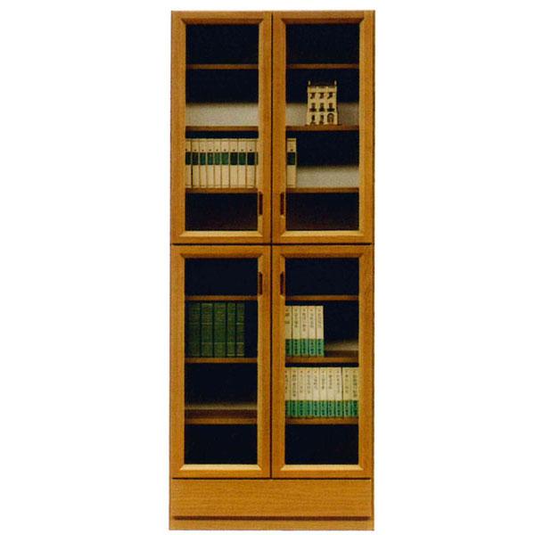 【ポイント増量&お得クーポン】 書棚 フリーボード開き戸 完成品 国産 79cm幅カラー対応2色 開梱設置 送料無料