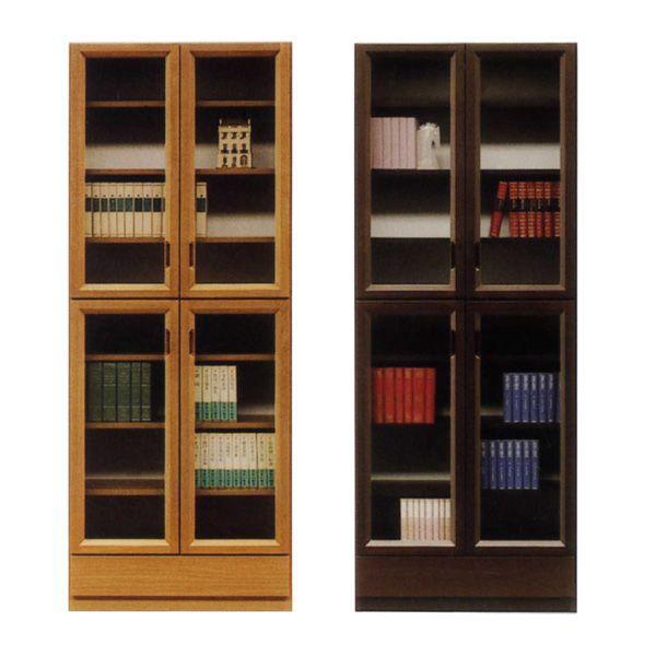 【4/9~ポイント増量&お得クーポン】 本棚 書棚 開き戸 完成品国産 78cm幅 開梱設置 送料無料