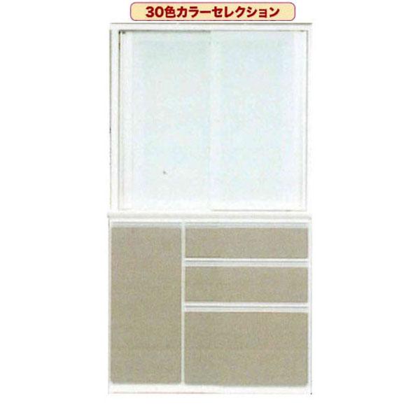 100cm幅 受注生産品 食器棚 完成品引き戸 キッチン収納開梱設置 送料無料