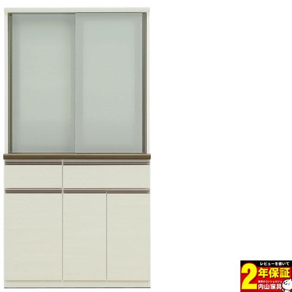 食器棚 完成品 キッチン収納 100cm幅 高さ186cm 開梱設置
