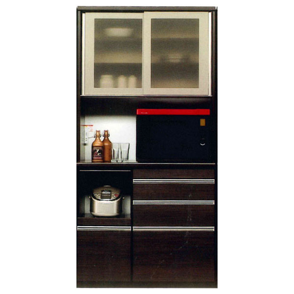 キッチンボード 100cm幅 レンジボード国産 開梱設置 送料無料