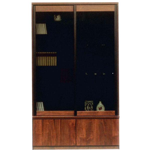 書棚 引き戸 完成品フリーボード 国産120cm幅 開梱設置 送料無料