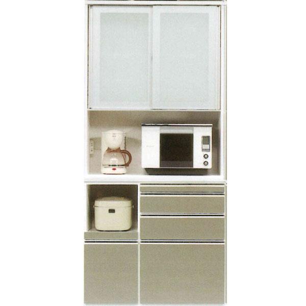 レンジボード 100cm幅 高さ2180cm 食器棚 キッチン収納 家電収納カウンター高さ95cm 奥行き45cmカラー30色対応 国産 開梱設置・送料無料