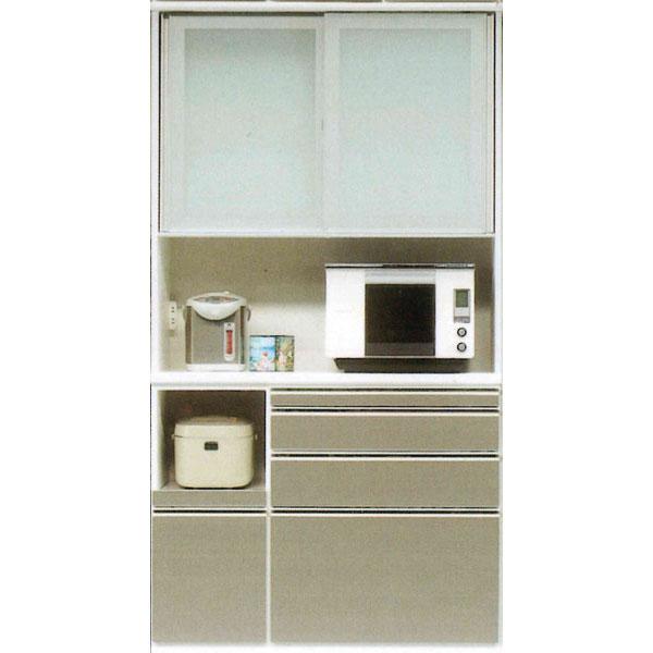 レンジボード120cm幅 高さ218cm レンジ台 食器棚 キッチン収納 家電収納カウンター高さ95cm 奥行き45cmカラー30色対応 国産 開梱設置・送料無料
