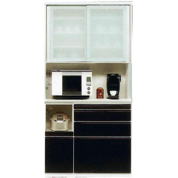 レンジボード 100cm幅 受注生産品 高さ175cm国産 引き戸 キッチン収納開梱設置 送料無料