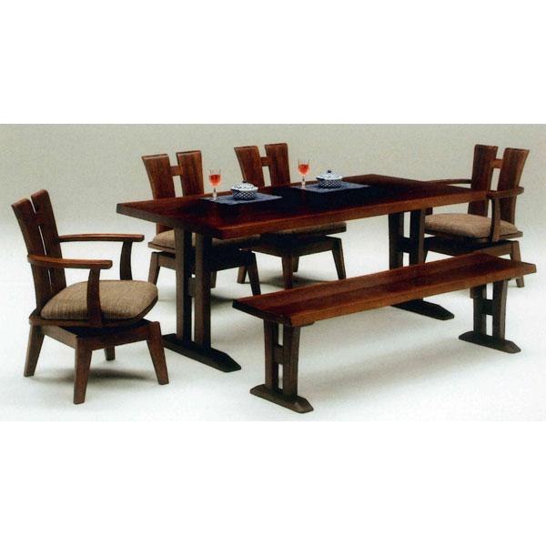 『4年保証』 1人掛け椅子は布張りで回転式 160cmベンチタイプ 特別セール品 ポイント増量お得クーポン ダイニングセット 6点セット6人掛け 開梱設置ダイニングテーブルセット 送料無料 160cmベンチ 組み立てします