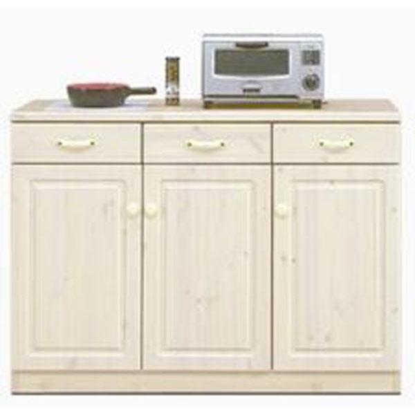 キッチンカウンター完成品 114cm幅 「エコル」開梱設置 送料無料