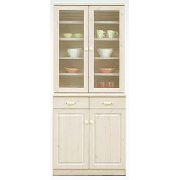 食器棚完成品 76cm幅 「エコル」開梱設置 送料無料