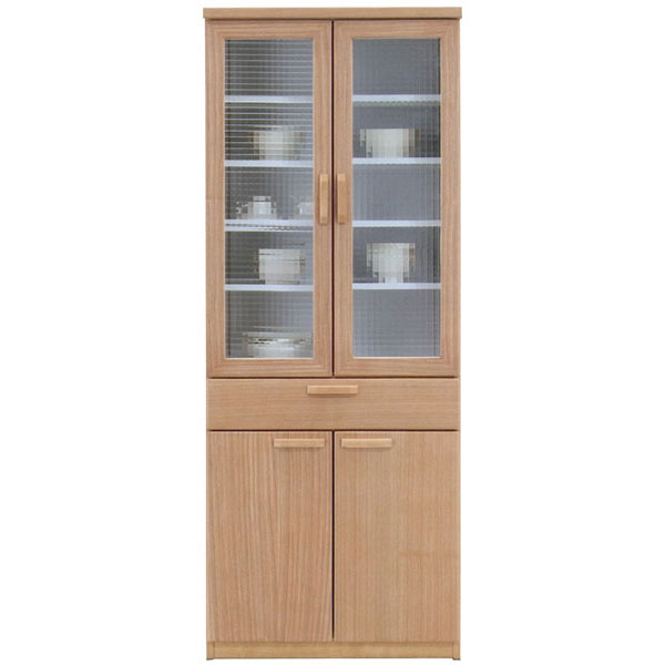食器棚完成品 70cm幅 「ナチュール2」開梱設置 送料無料