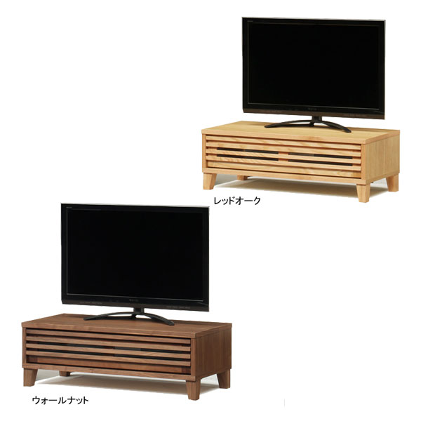 【送料無料】TVボード テレビボード ロータイプ「バジル」 104cm幅 2色対応