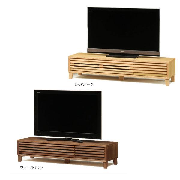 【ポイント増量&お得クーポン】 【送料無料】TVボード テレビボード ロータイプ「バジル」 153cm幅 2色対応