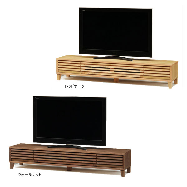 【送料無料】TVボード テレビボード ロータイプ「バジル」 180cm幅 2色対応