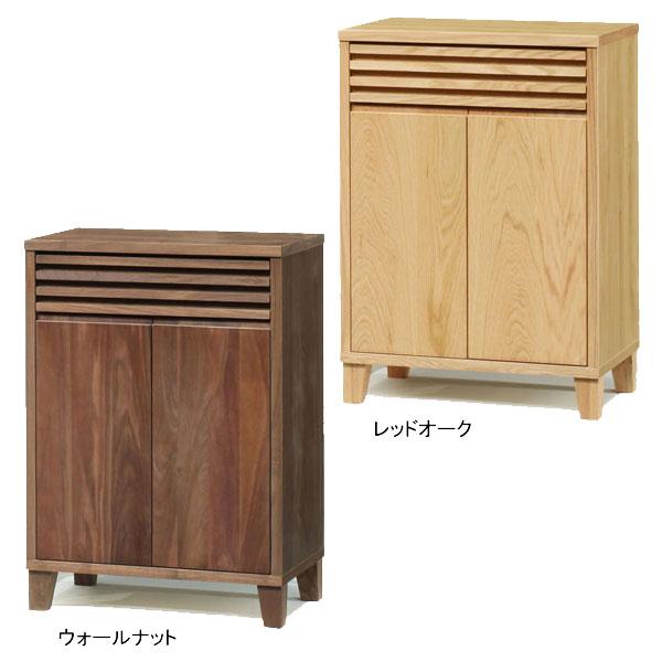 【送料無料】サイドボード キャビネット 飾り棚 収納「バジル」 62cm幅 2色対応