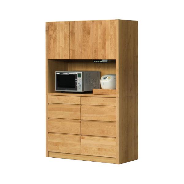 【ポイント増量&お得クーポン】 【開梱設置】オープンボード 食器棚「ジュリア」 124cm幅