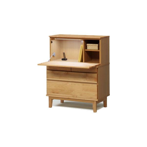 【開梱設置】ライティングビューロー デスク 机 戸棚 書棚「モニカ」 90cm幅