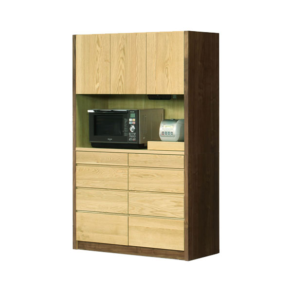 【ポイント増量&お得クーポン】 【開梱設置】オープンボード 食器棚「ニコル」 124cm幅