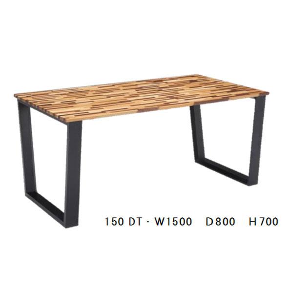 【ポイント増量&お得クーポン】 【送料無料 開梱設置】 ダイニングテーブル組立品 150cm幅 「ニューガラ」」