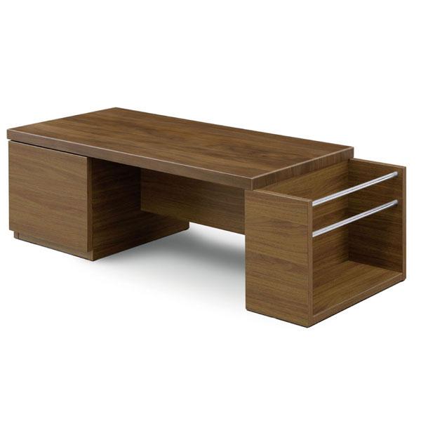 【ポイント増量&お得クーポン】 ローテーブル 北欧 リビング テーブル 木製センターテーブル カフェテーブル 収納付きMBR / ブラウン 110cm 「 GLAM グラム 」玄関お渡し