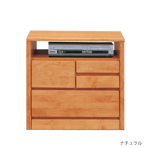 テレビボード 60cm幅2段 AVチェスト国産 ブラウン ナチュラル「ティアラ」送料無料