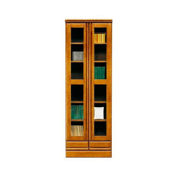 本棚 書棚 ハイタイプ 国産ブラウン 60cm幅 「ジェロ」開梱設置 送料無料