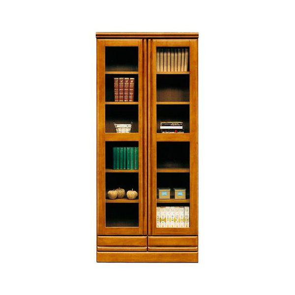 【4/9~ポイント増量&お得クーポン】 本棚 書棚 ハイタイプ 国産ブラウン 80cm幅 「ジェロ」開梱設置 送料無料