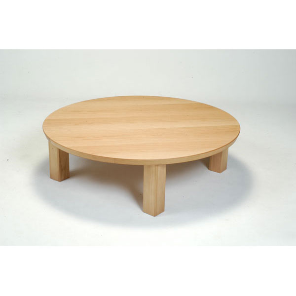 【エントリーでポイント激ヤバ】 丸型こたつ コタツ テーブル 家具調継脚付き 折脚 120cm幅 「K-ソレイユ」国産 送料無料 開梱設置