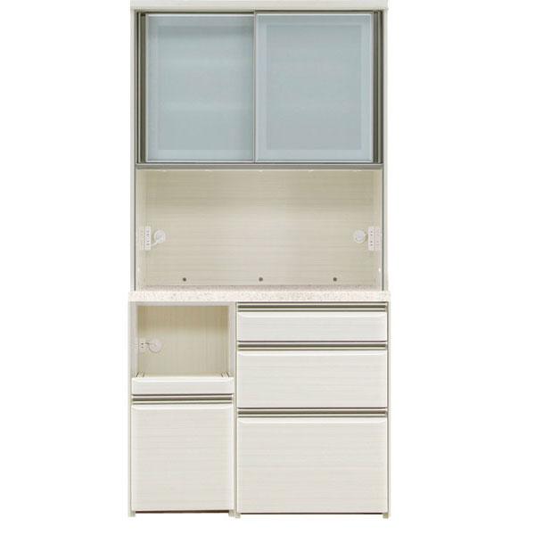 オープン食器棚 100cm幅 完成品 レンジボード「フォルツ」送料無料 開梱設置