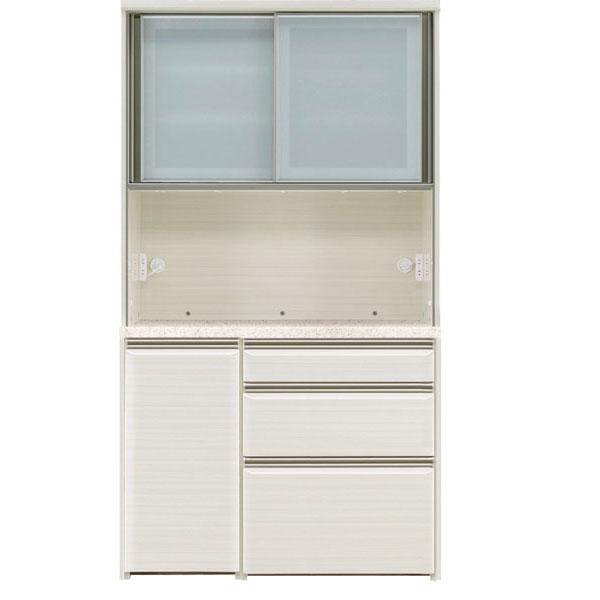 オープン食器棚 110cm幅 完成品 レンジボード「フォルツ」送料無料