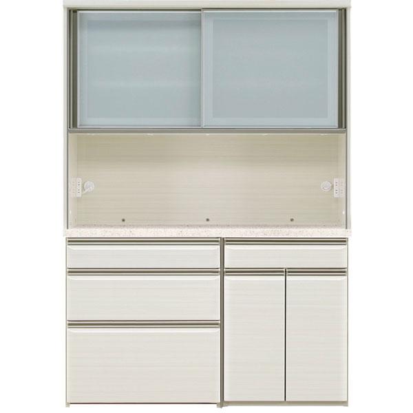 オープン食器棚 140cm幅 完成品 レンジボード 「フォルツ」送料無料 開梱設置 ※9月初旬の入荷予定