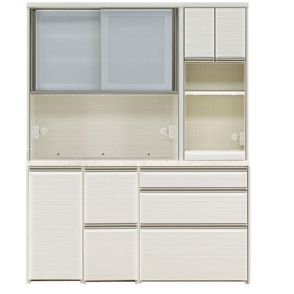 オープン食器棚 160cm幅 完成品 レンジボード「フォルツ」送料無料 開梱設置