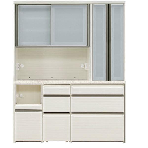 食器棚 完成品 レンジボード160cm幅 「フォルツ」 送料無料 開梱設置 ※8月末の入荷予定