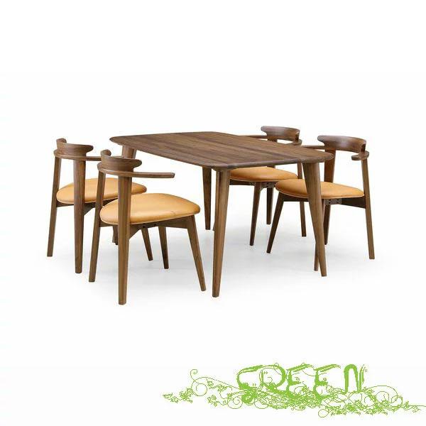 【ポイント増量&お得クーポン】 GREEN YUZU DININGSET Y-001/Y-021革張り椅子 食卓セラウッド塗装ダイニングテーブルセット 送料無料