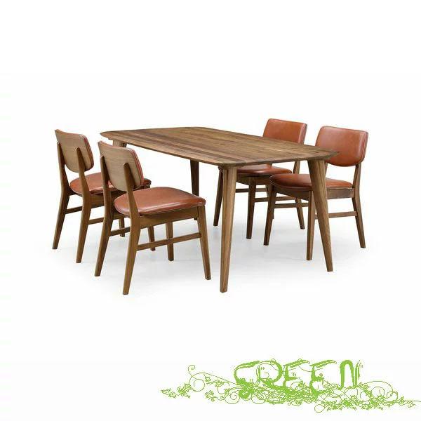 GREEN YUZU DININGSET Y-003/Y-023 革張り椅子 食卓セラウッド塗装ダイニングテーブルセット 送料無料