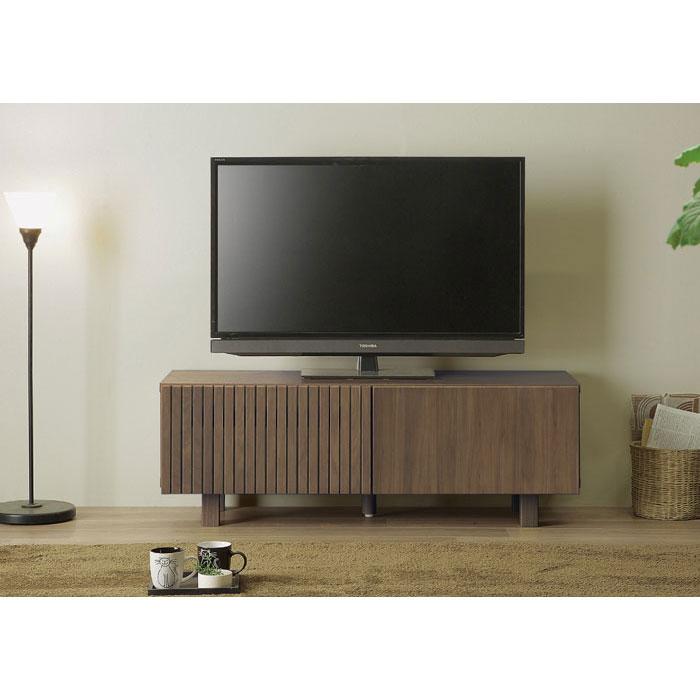 140cmレビボード TVB TVボード テレビ台 ローボード 「オルガ」 ロータイプ フルオープンレール仕様 送料無料