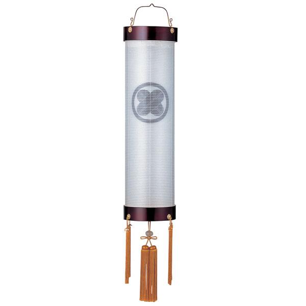 盆提灯 絹張住吉 桜二重張 無地 9番木製・風鎮付・電気式 家紋入れサービス