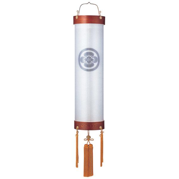 盆提灯 絹張住吉 ケヤキ調二重張 無地 9番木製・風鎮付・電気式 家紋入れサービス