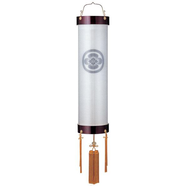 盆提灯 絹張住吉 ワイン二重張 無地 9番木製・風鎮付・電気式 家紋入れサービス