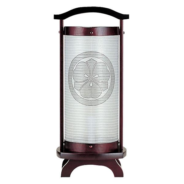 盆提灯 創作提灯 ミニ行灯 仏法灯桜(絹) 無地 木製・電気式 家紋入れサービス