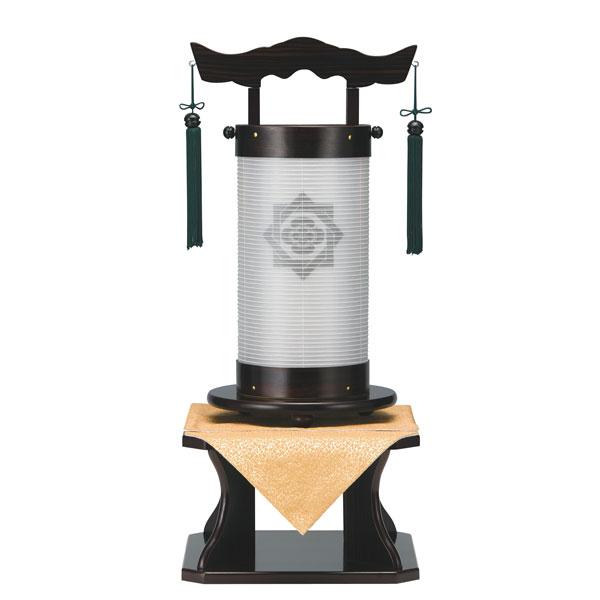 盆提灯 法明燈 黒檀調 絹二重張 無地 50号木製・台付・電気式 完成品 家紋入れサービス