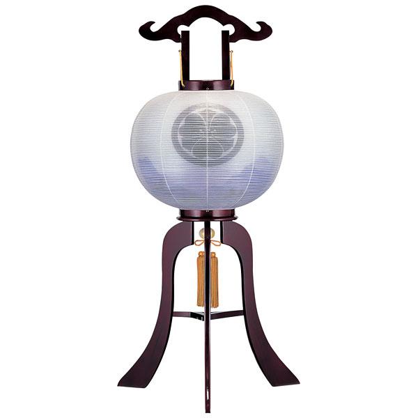 盆提灯 絹張行灯 ワイン二重張 紫静連山 10号木製・風鎮付・電気式 家紋入れサービス