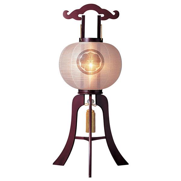 盆提灯 絹張行灯 桜無地 12号木製・風鎮付・電気式 家紋入れサービス