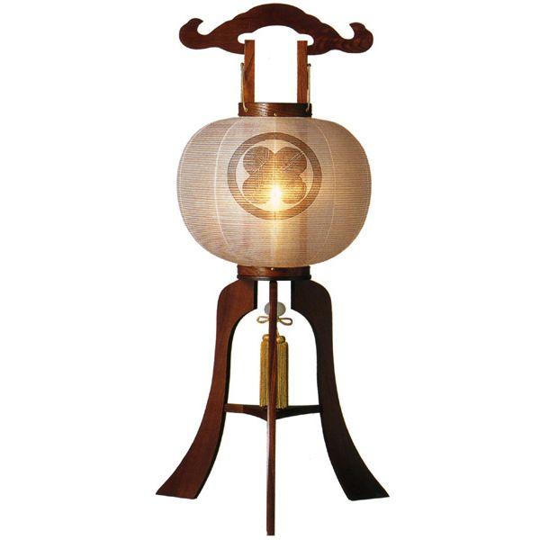 盆提灯 絹張行灯 ケヤキ調無地 13号木製・風鎮付・電気式 家紋入れサービス