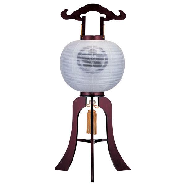 特価 盆提灯 絹張行灯 桜二重張 無地 12号木製・風鎮付・電気式 家紋入れサービス
