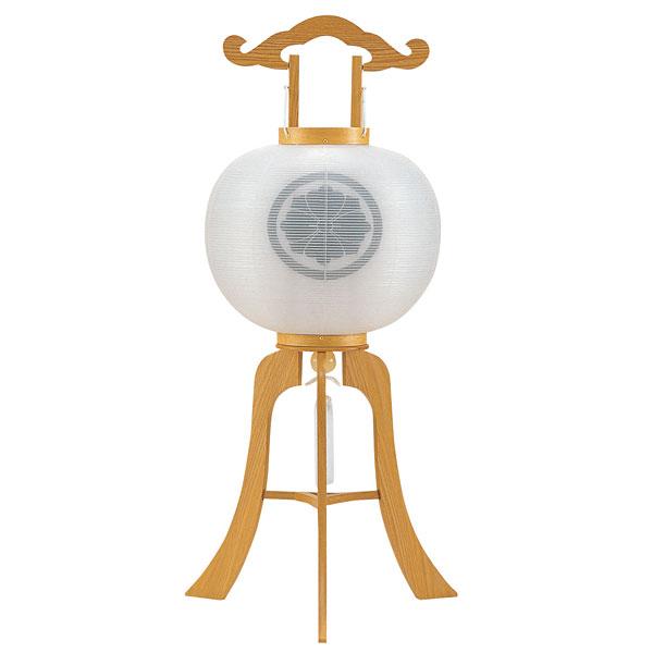 特価 盆提灯 絹張行灯 白木柾二重張 無地 11号木製・風鎮付・電気式 家紋入れサービス