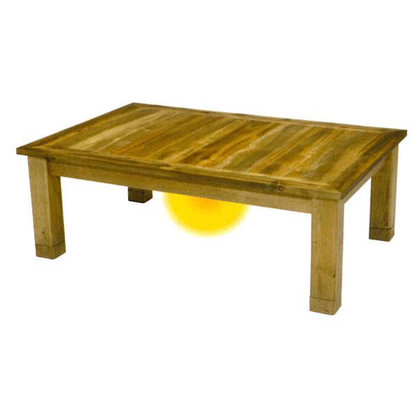 【ポイント増量&クーポン】 こたつ コタツ 暖房器具天然木 継脚 アカシア材 120cm幅「バオバブ」代引不可