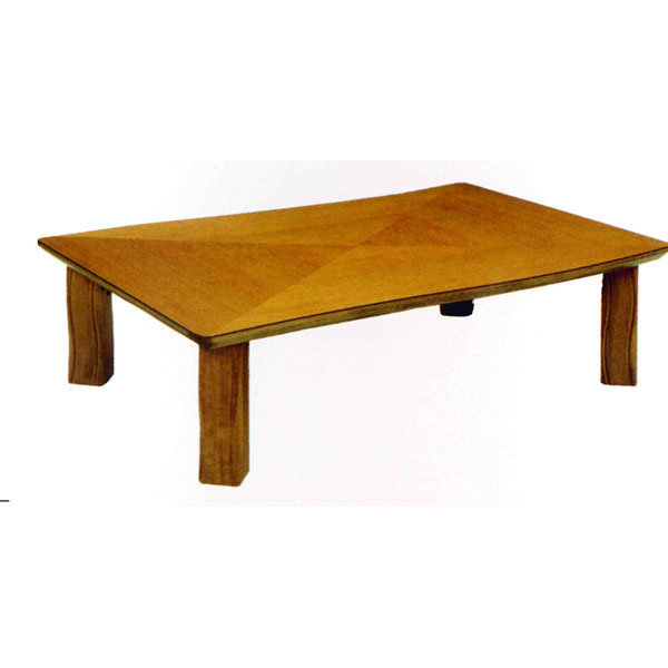 【ポイント増量&お得クーポン】 テーブル 長方形 座卓楢材 変化貼り 折り脚120cm幅 国産 送料無料