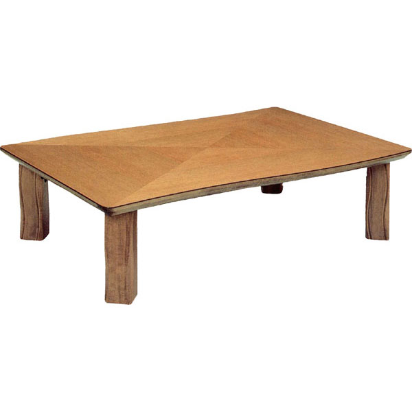 【ポイント増量&お得クーポン】 テーブル 長方形 座卓楢材 変化貼り 折り脚105cm幅 国産 送料無料