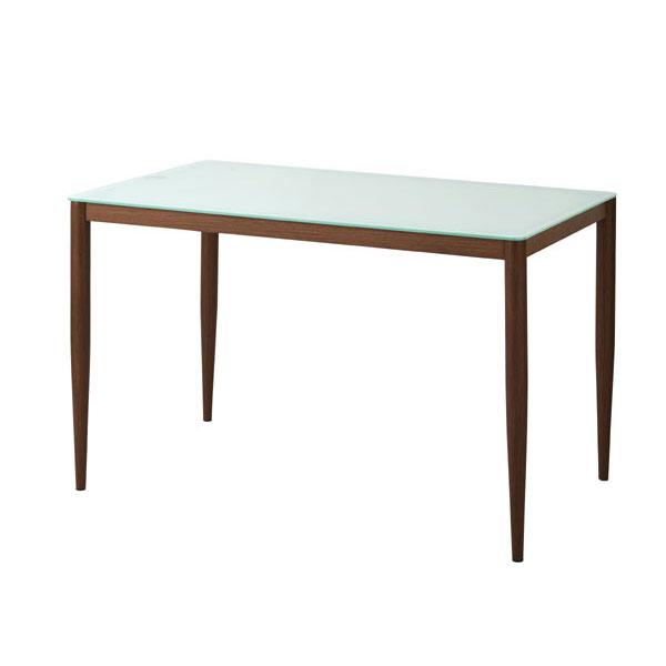 【ポイント増量&お得クーポン】 送料無料強化ガラスダイニングテーブル カラー2色【キューベル】 120cm幅 4人用