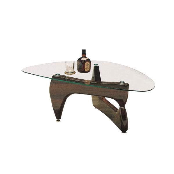 【ポイント増量&お得クーポン】 送料無料テーブル センターテーブル【ノーバ】 木部カラー2色 強化ガラス8mm